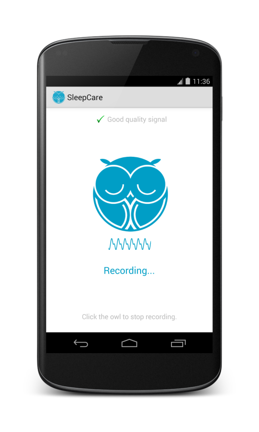 Smartcare sleep recording